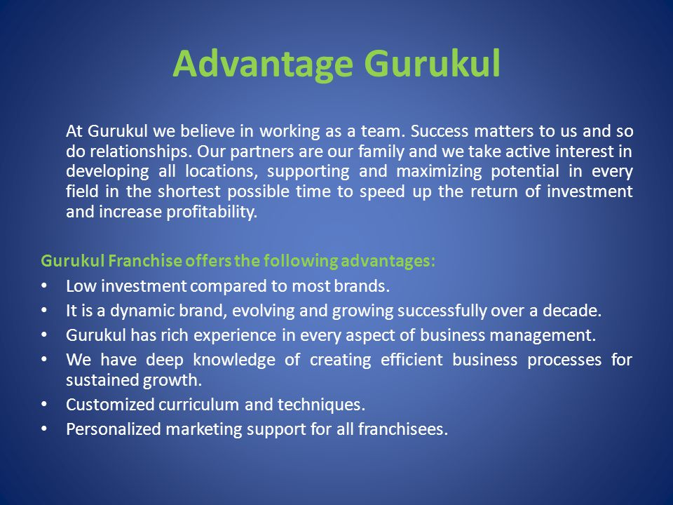 About Gurukul Gurukul is a well respected brand in the field of Preschool Education in India.