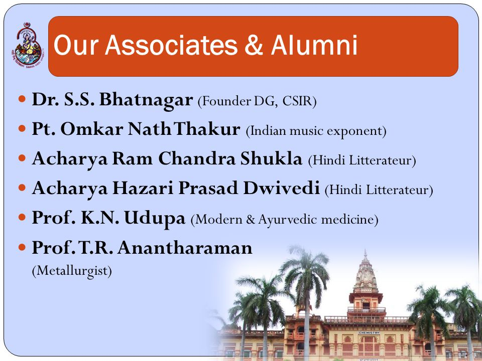 Our Associates & Alumni Dr. S.S. Bhatnagar (Founder DG, CSIR) Pt.