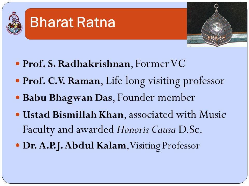 Bharat Ratna Prof. S. Radhakrishnan, Former VC Prof.