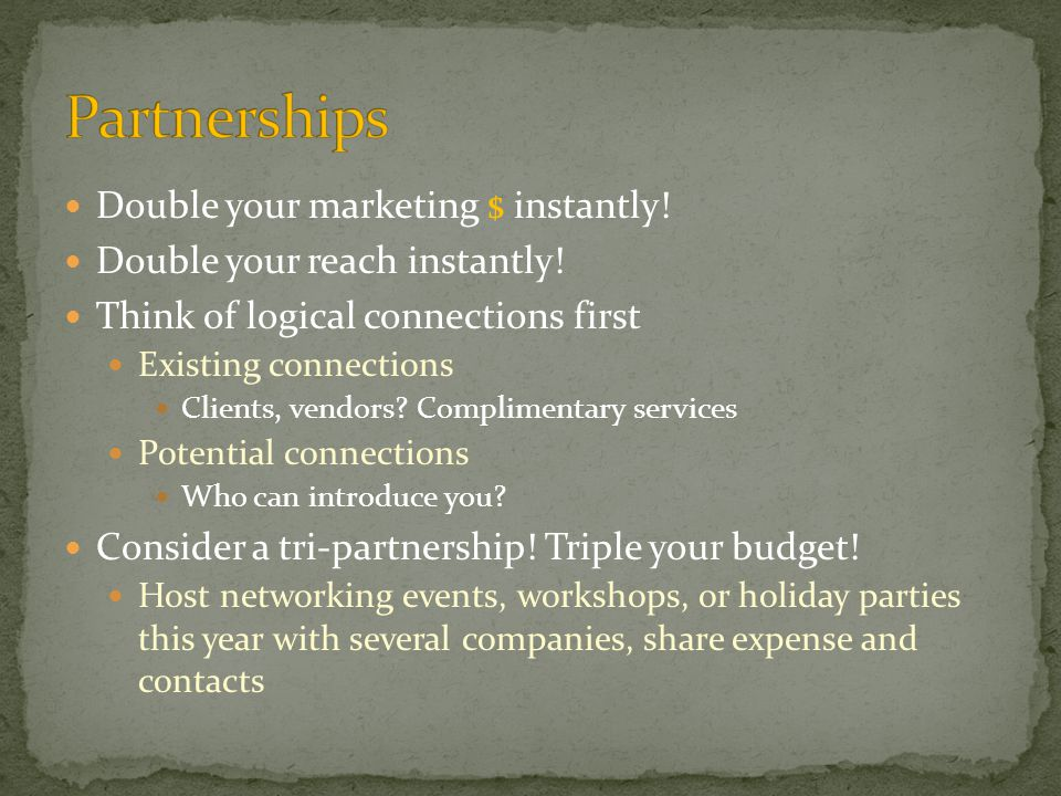 Double your marketing $ instantly. Double your reach instantly.