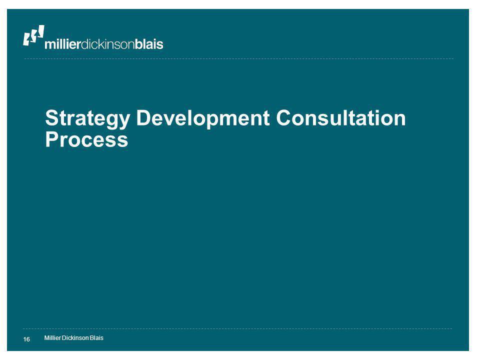 Millier Dickinson Blais 16 Strategy Development Consultation Process