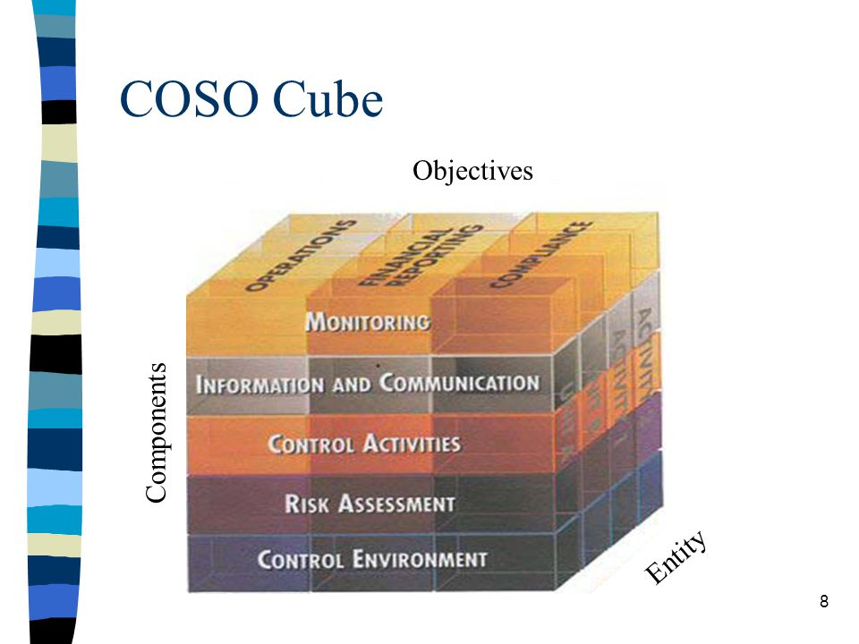 COSO Cube Components Objectives Entity 8