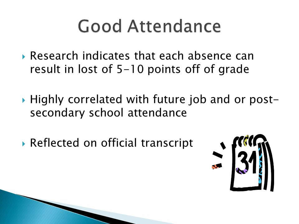 Good Attendance Time Management Study effectively Take Responsibility Respect Authority