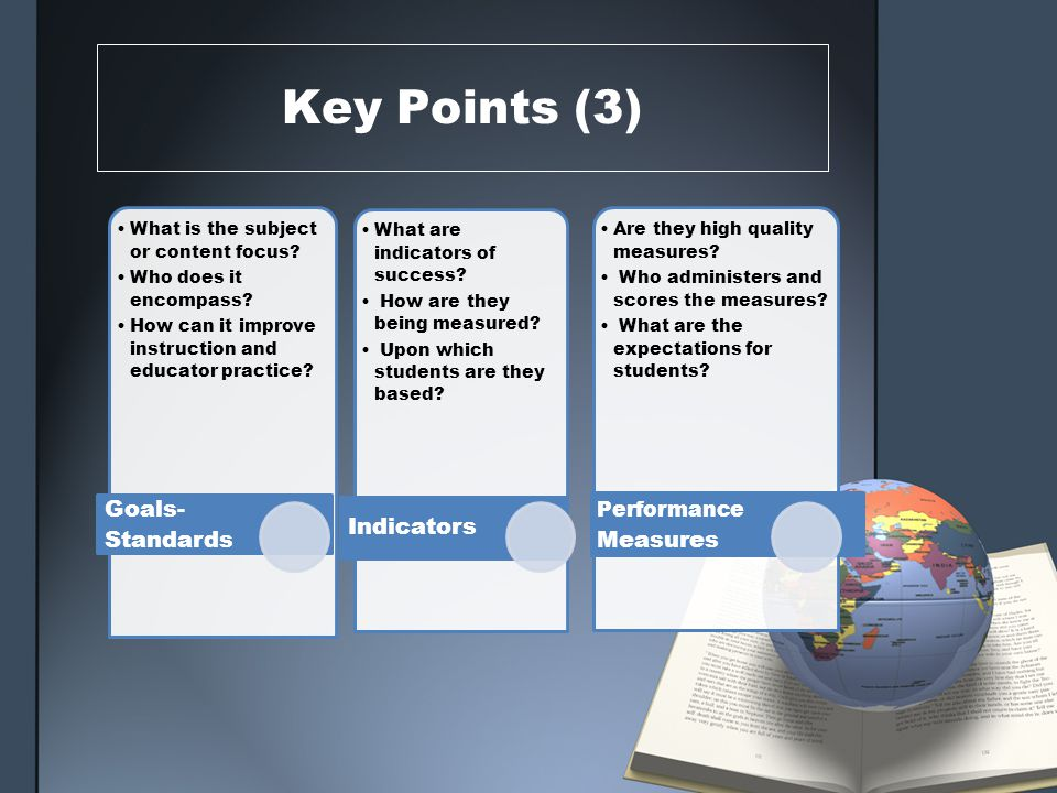 Key Process Points The SLO process facilitates a conversation about expectation between educators (principals and teachers)