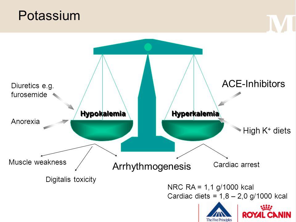 Potassium HypokalemiaHyperkalemia Diuretics e.g.