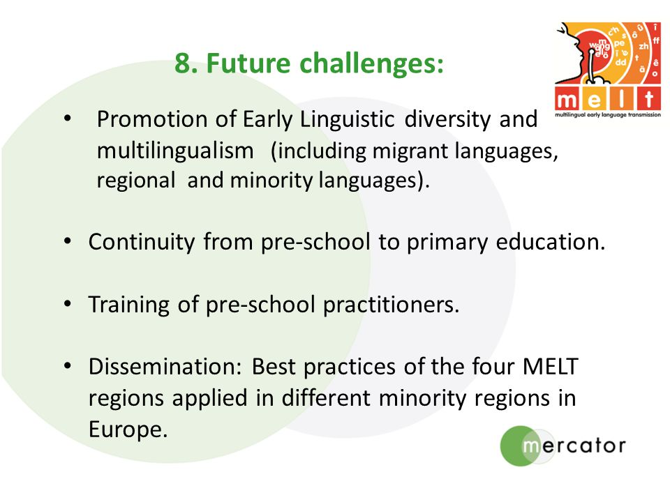 Promotion of Early Linguistic diversity and multilingualism (including migrant languages, regional and minority languages).