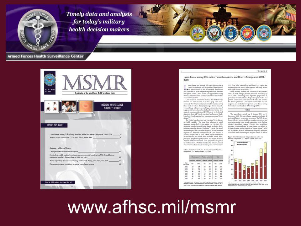 www.afhsc.mil/msmr