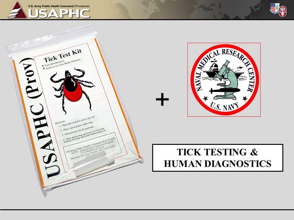 TICK TESTING & HUMAN DIAGNOSTICS +
