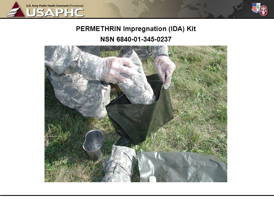 PERMETHRIN Impregnation (IDA) Kit NSN 6840-01-345-0237