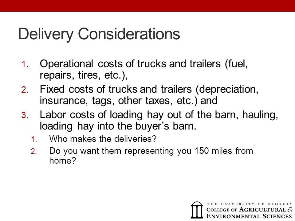 Delivery Considerations 1.