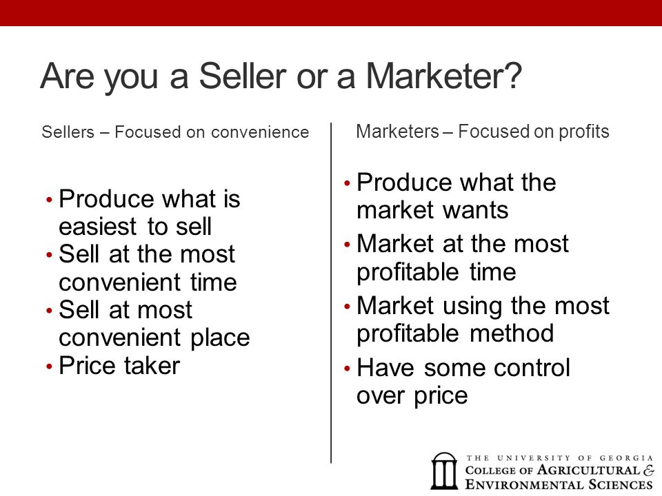 Are you a Seller or a Marketer.