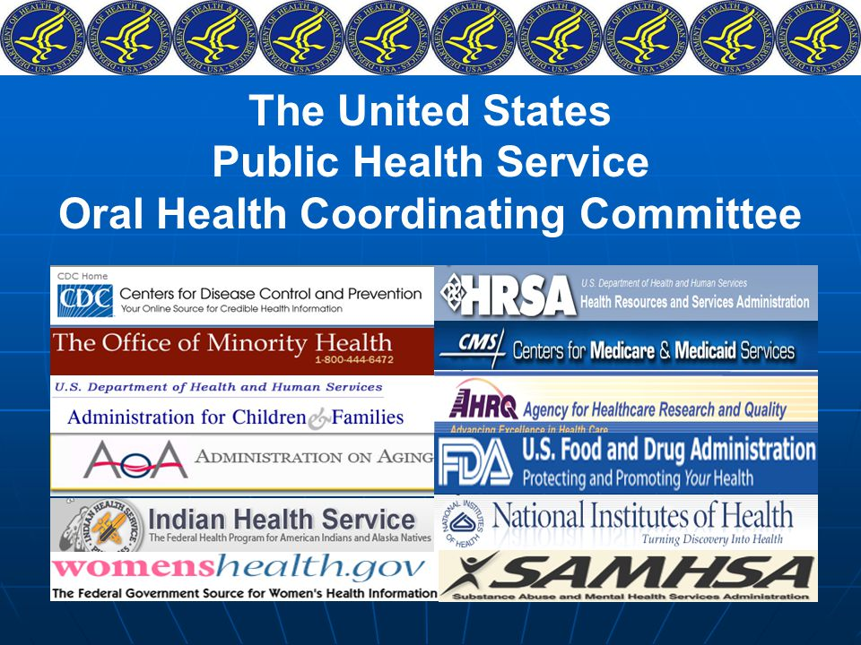 The United States Public Health Service Oral Health Coordinating Committee