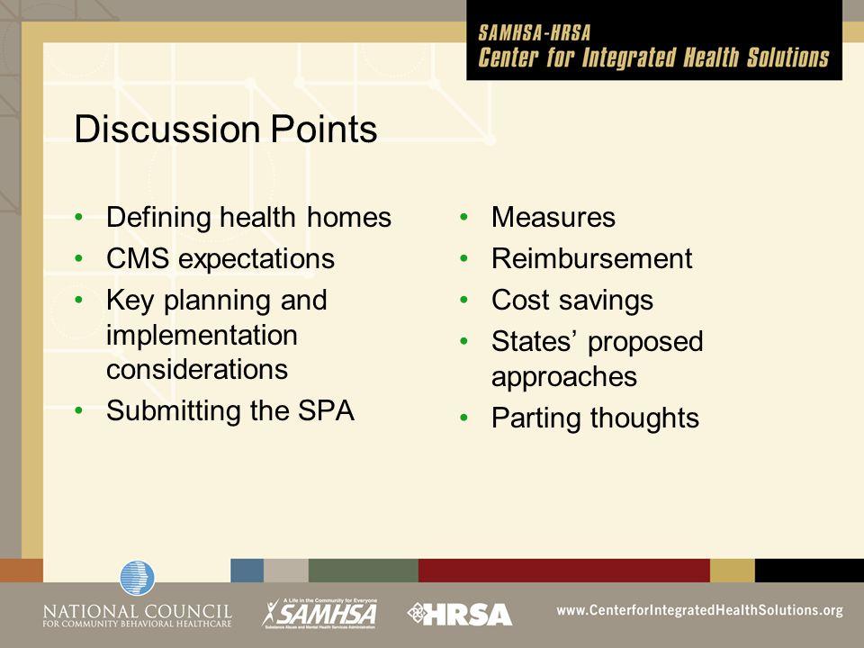 Defining health homes Enumerated in Sec.