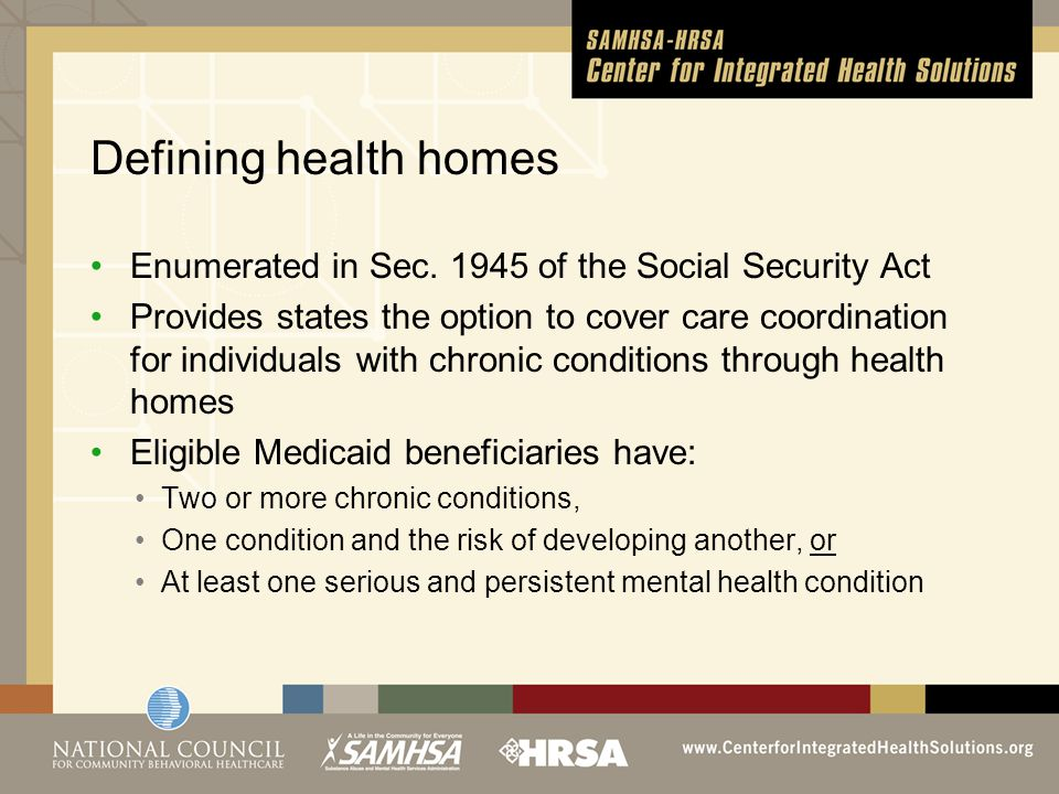 Likely feedback from SAMHSA and CMS From SAMHSA Use of a chronic care model Provider qualifications Health team members Engaging primary care Addressing SUD Capacity for new service users Use of HIT Interim outcome measures Need help (e.g., screening tools, integration models).