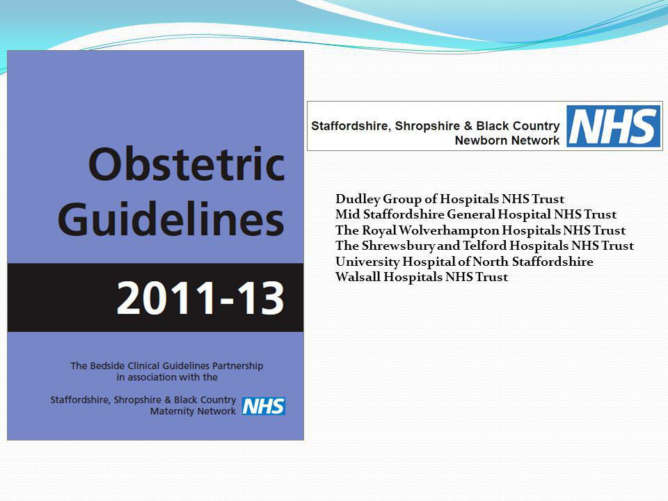 Dudley Group of Hospitals NHS Trust Mid Staffordshire General Hospital NHS Trust The Royal Wolverhampton Hospitals NHS Trust The Shrewsbury and Telford Hospitals NHS Trust University Hospital of North Staffordshire Walsall Hospitals NHS Trust