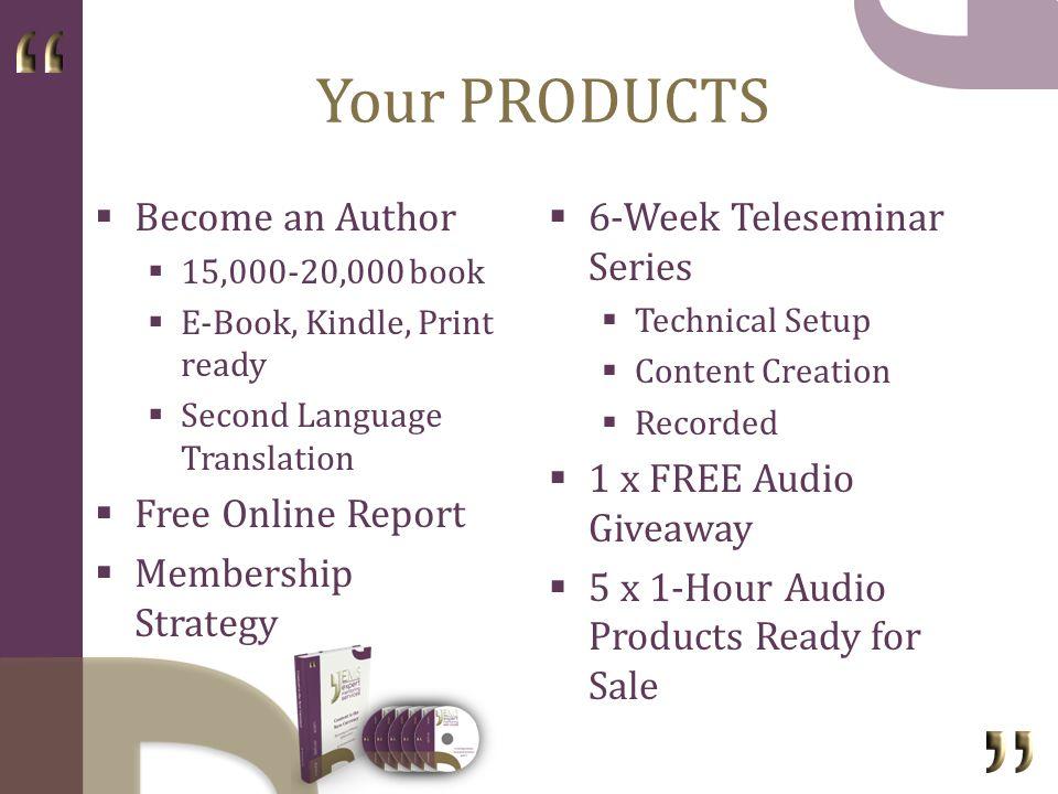 Your SPEAKER OFFERING Key Presentation Pieces 20-min, 2-hr, 1-day...