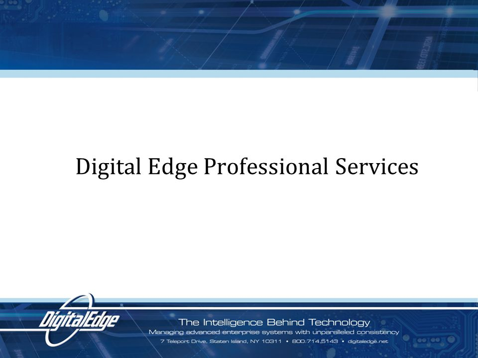 Digital Edge Professional Services