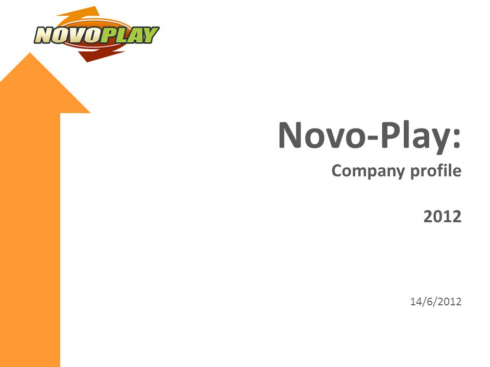 Novo-Play: Company profile 2012 14/6/2012