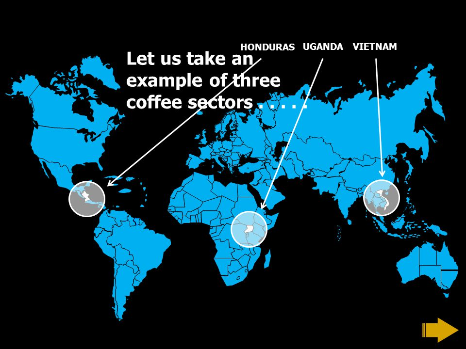 Let us take an example of three coffee sectors..... HONDURAS UGANDAVIETNAM