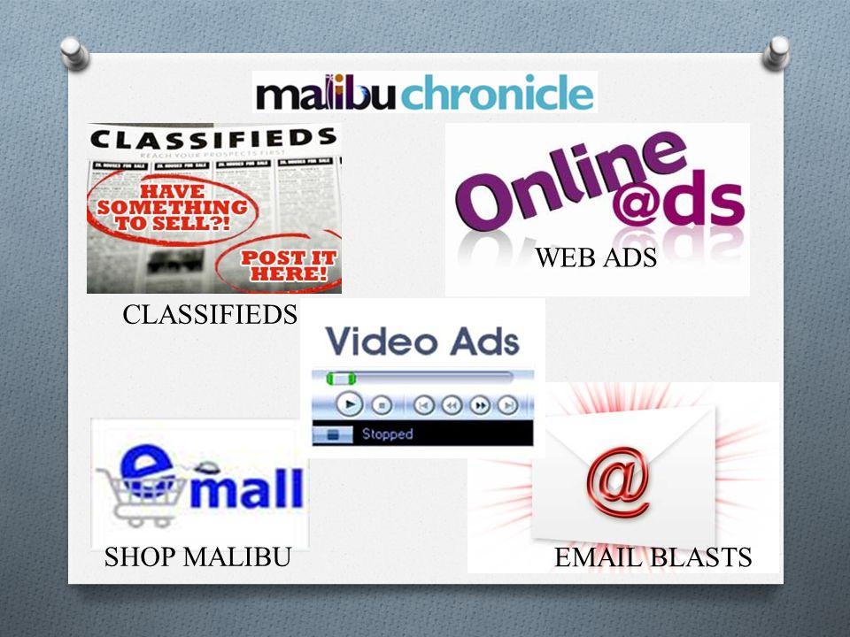 SHOP MALIBU EMAIL BLASTS WEB ADS CLASSIFIEDS