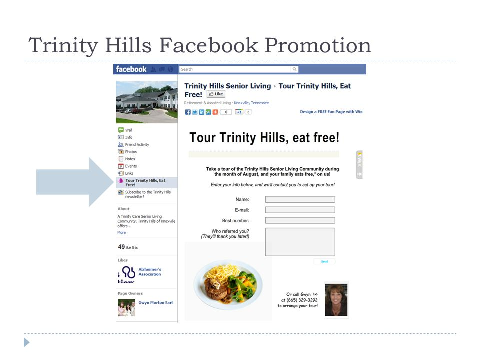 Trinity Hills Facebook Promotion