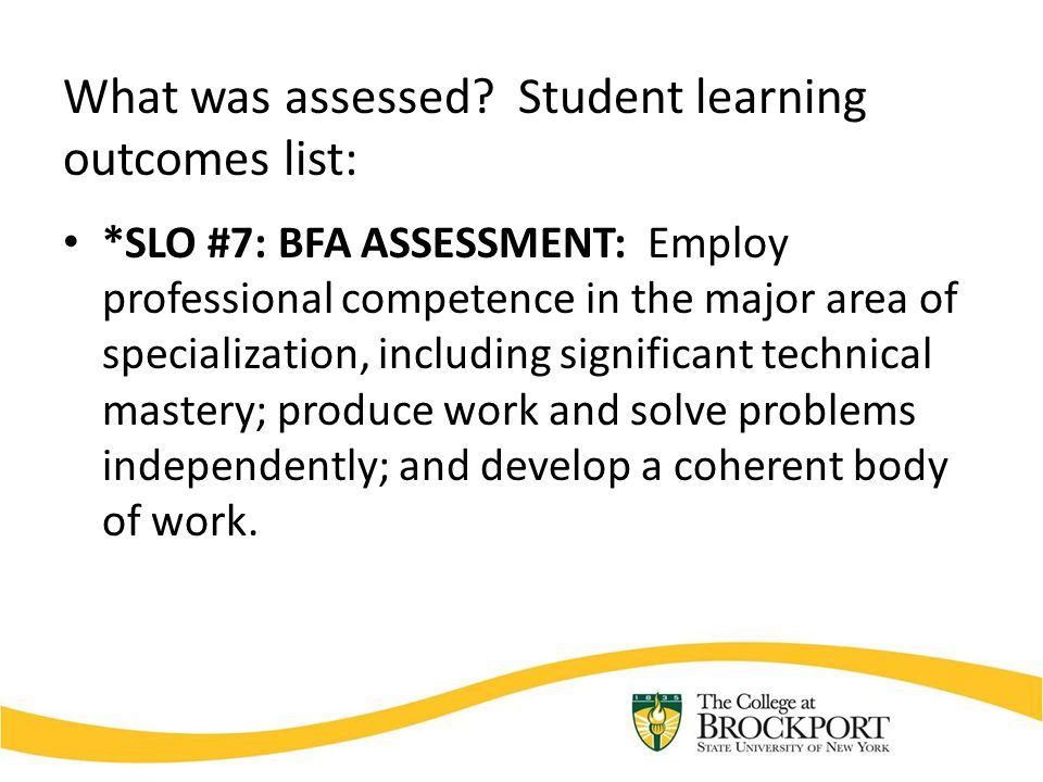 How was the assessment accomplished.