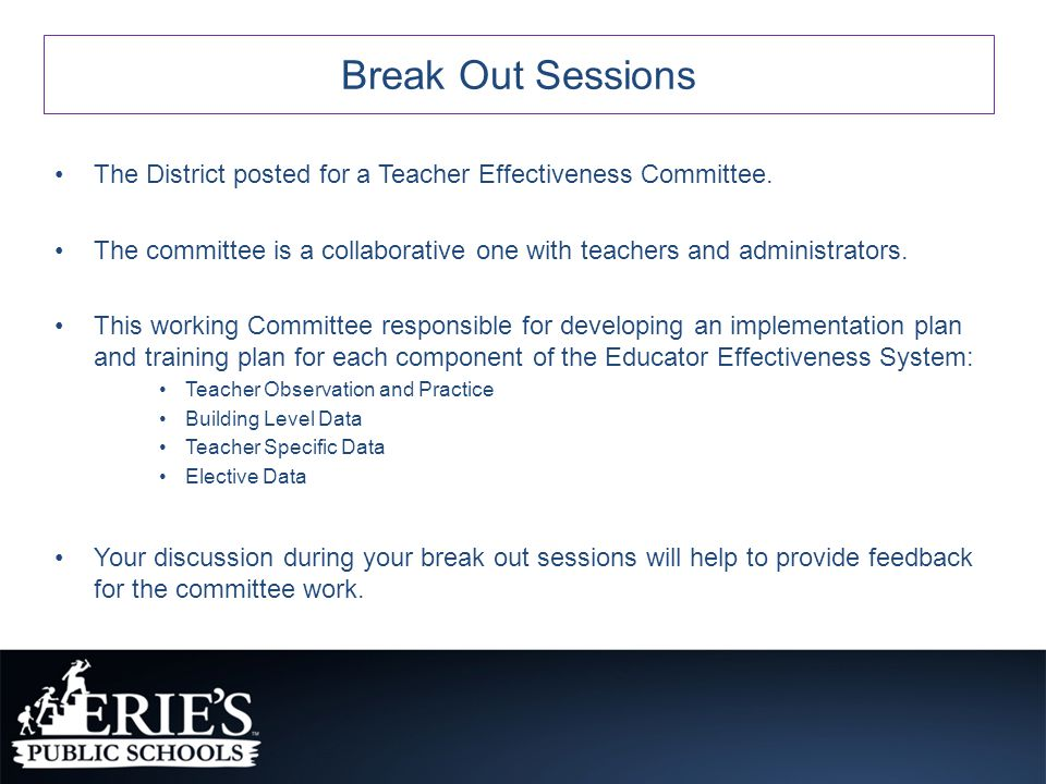 The District posted for a Teacher Effectiveness Committee.