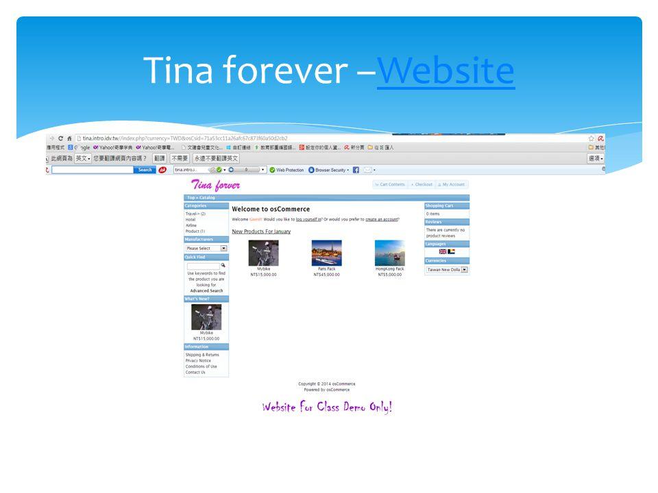 Tina forever –WebsiteWebsite