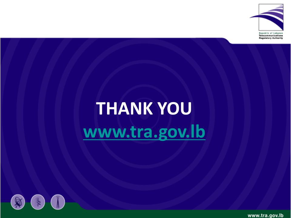 THANK YOU www.tra.gov.lb