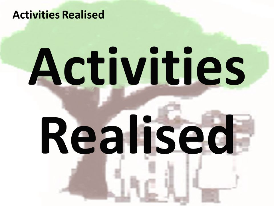 Activities Realised