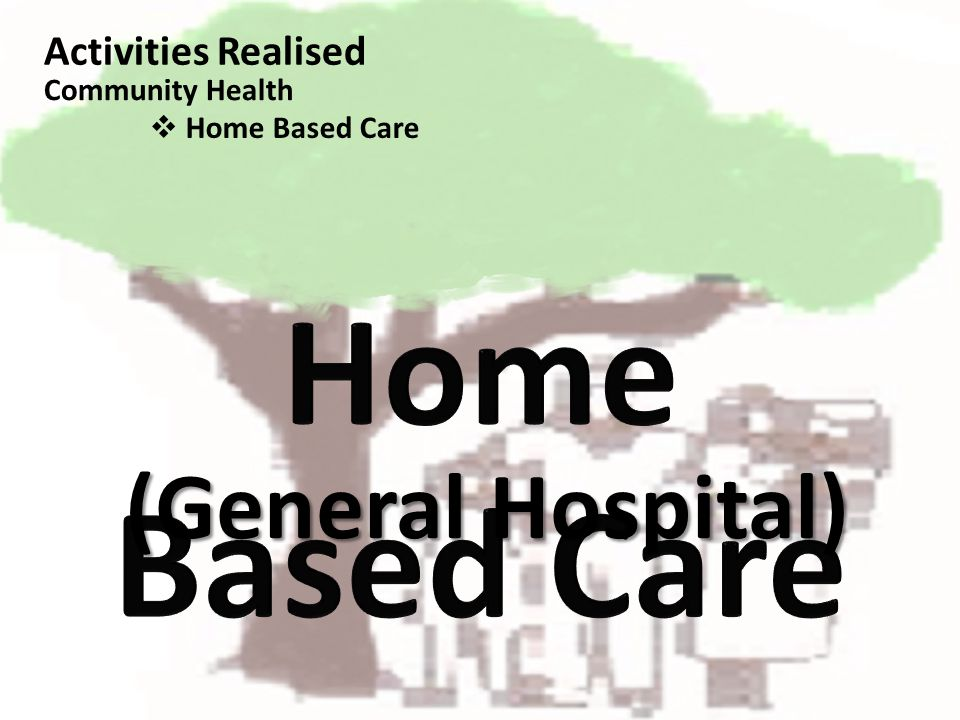 (General Hospital) Activities Realised Home Based Care Community Health