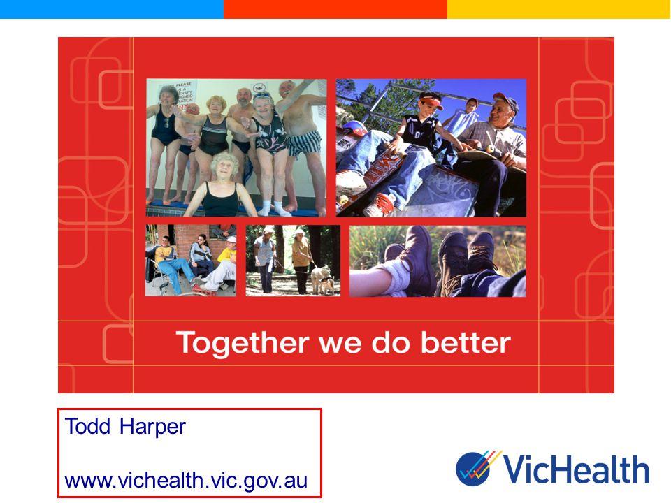 Todd Harper www.vichealth.vic.gov.au