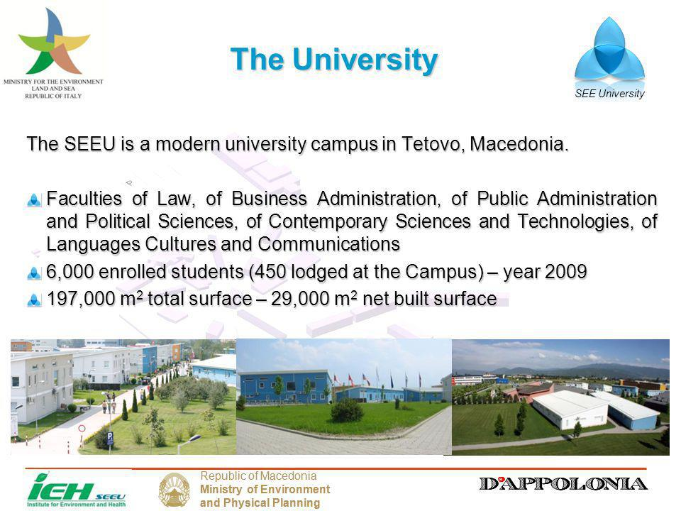 SEE University Republic of Macedonia Ministry of Environment and Physical Planning Republic of Macedonia Ministry of Environment and Physical Planning The Climate Action Plan – CAP Following the high level commitments on climate change, several universities in the U.S.A.