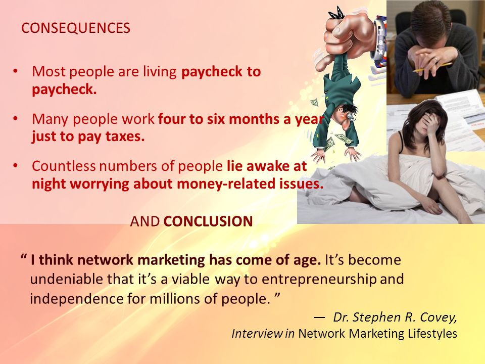 I think network marketing has come of age.