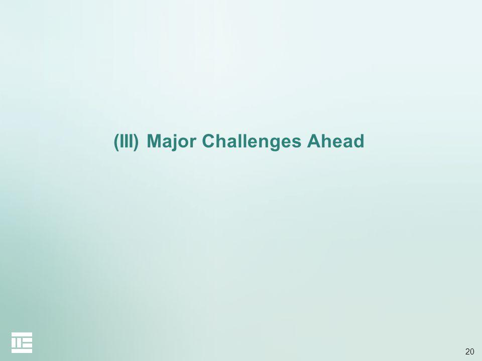20 (III) Major Challenges Ahead