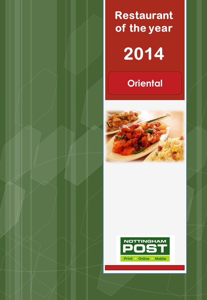 Restaurant of the year 2014 Oriental