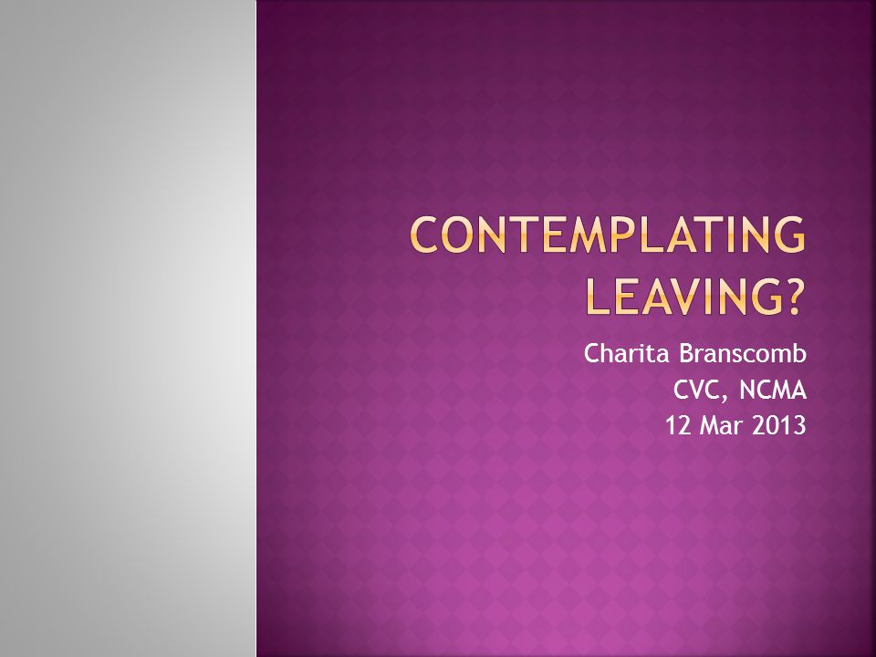 Charita Branscomb CVC, NCMA 12 Mar 2013