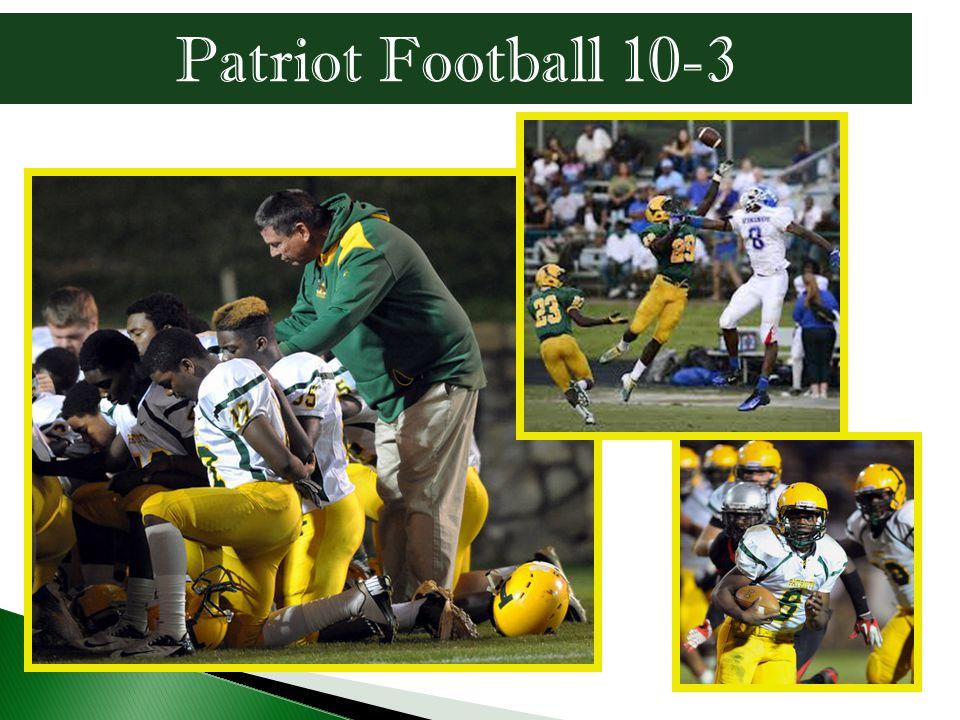 Patriot Football 10-3
