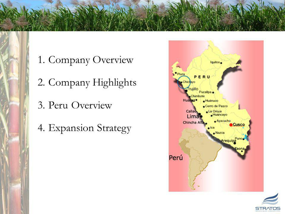 1 1 Stratos Overview 1.Company Overview 2.Company Highlights 3.Peru Overview 4.Expansion Strategy