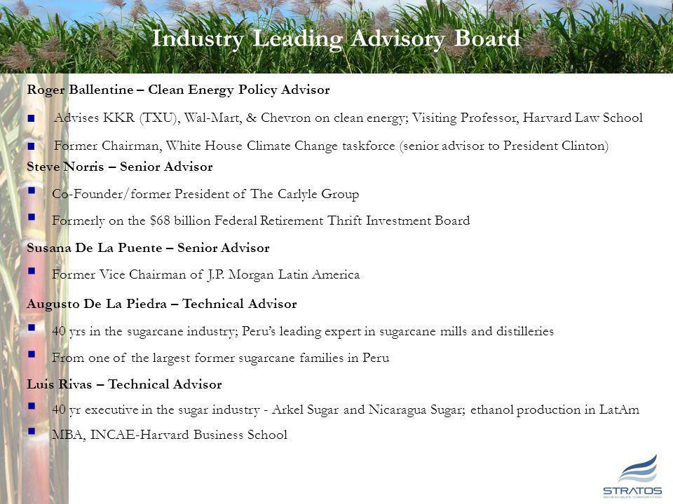 7 7 Industry Leading Advisory Board Roger Ballentine – Clean Energy Policy Advisor Advises KKR (TXU), Wal-Mart, & Chevron on clean energy; Visiting Pr