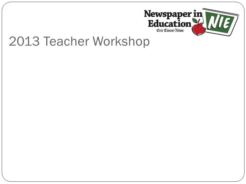2013 Teacher Workshop