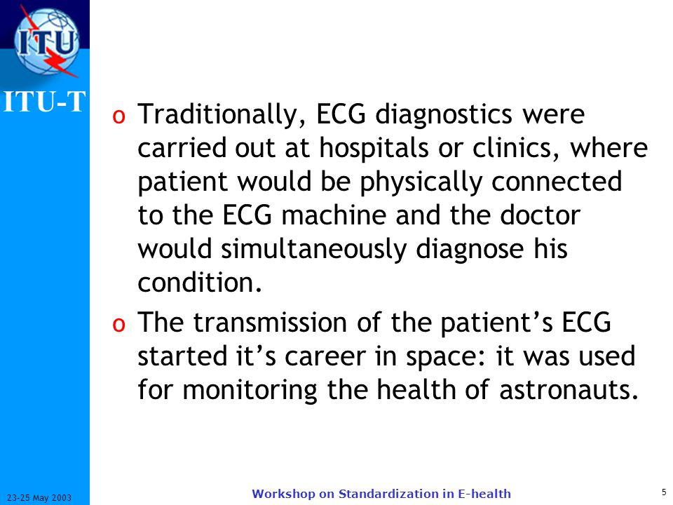 ITU-T 26 23-25 May 2003 Workshop on Standardization in E-health Why Telemedicine.