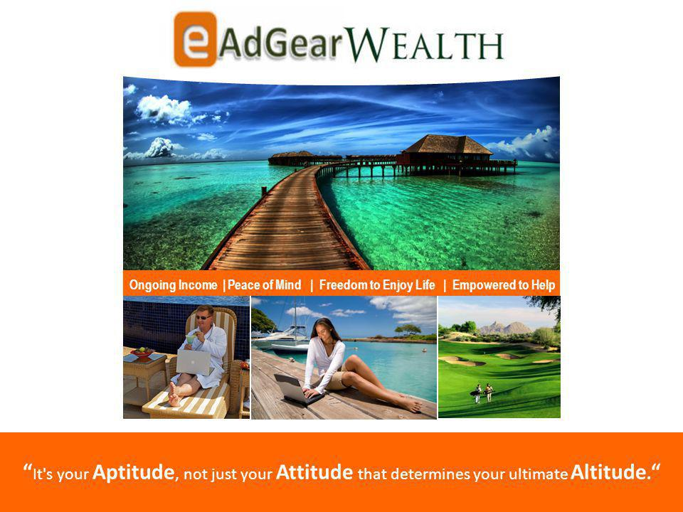 It s your Aptitude, not just your Attitude that determines your ultimate Altitude.