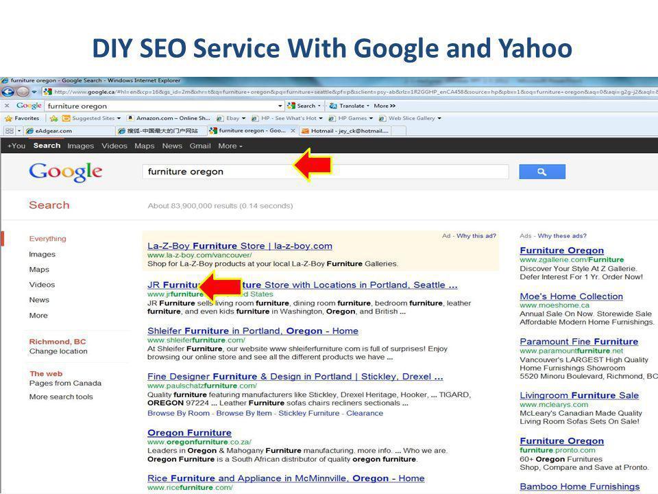 DIY SEO Service With Google and Yahoo