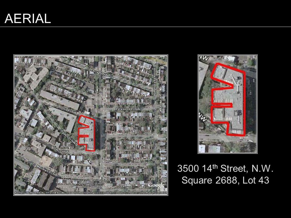 3500 14 th Street, N.W. Square 2688, Lot 43 AERIAL