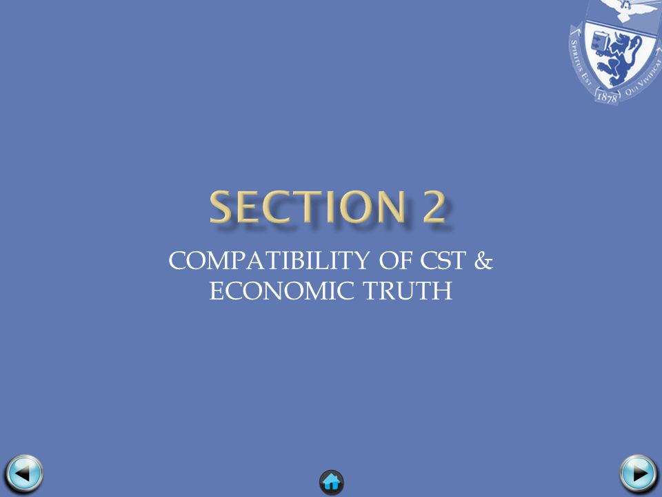 COMPATIBILITY OF CST & ECONOMIC TRUTH