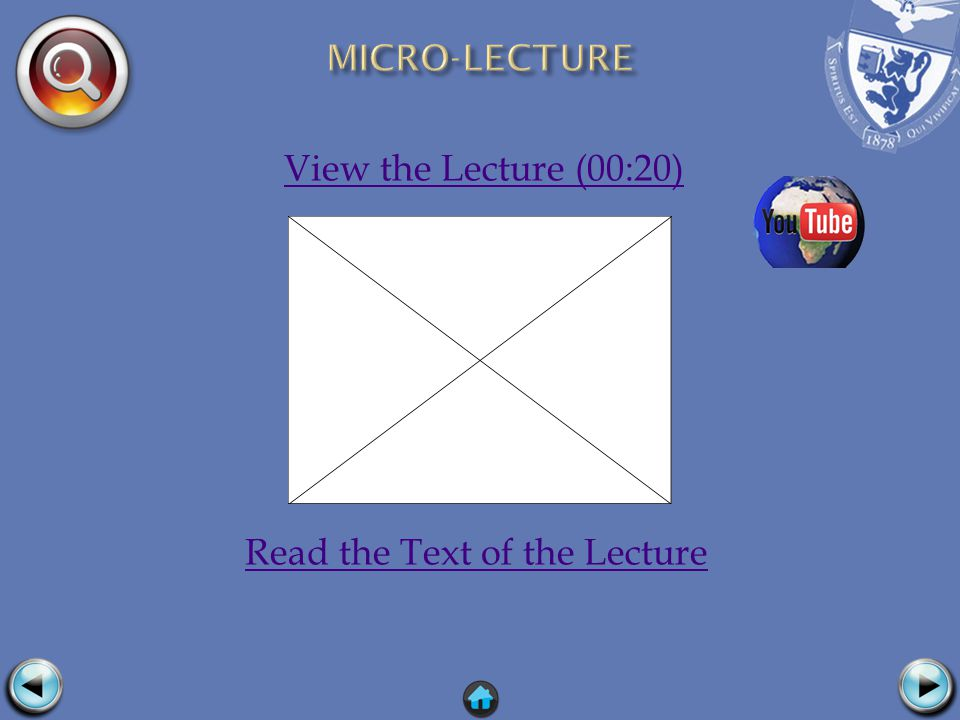 View the Lecture (00:20) Read the Text of the Lecture
