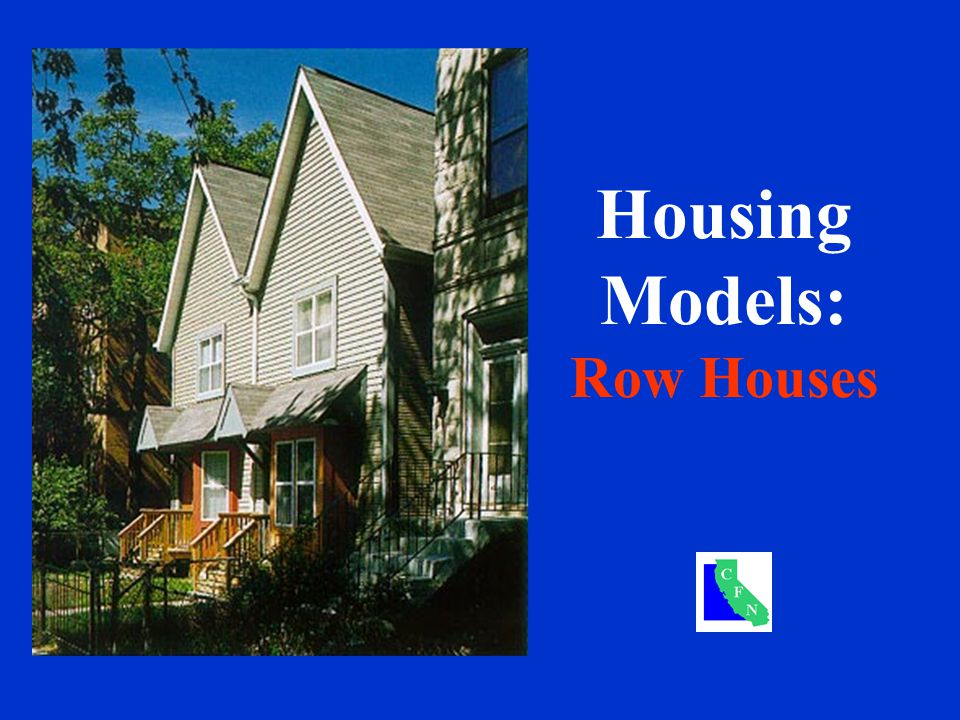 Housing Models: Row Houses