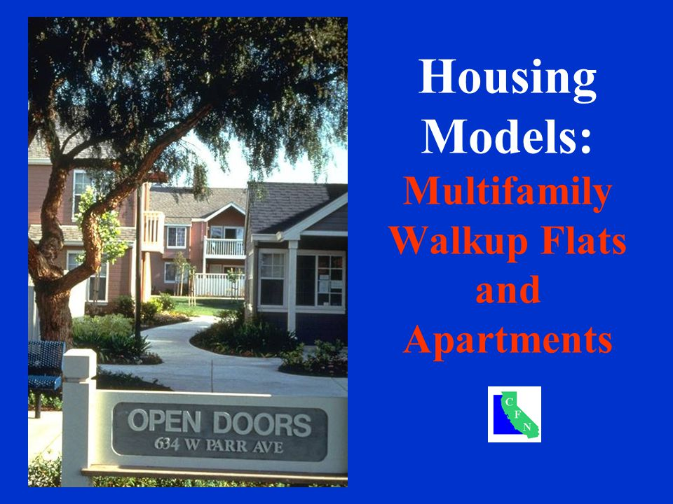 Housing Models: Multifamily Walkup Flats and Apartments