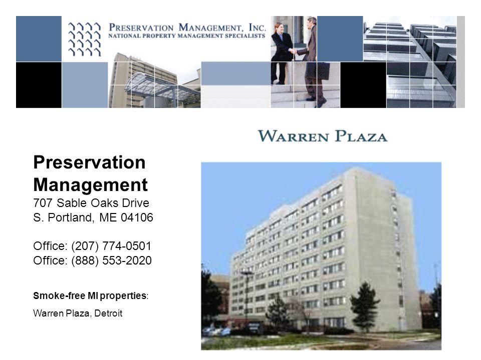 Preservation Management 707 Sable Oaks Drive S.